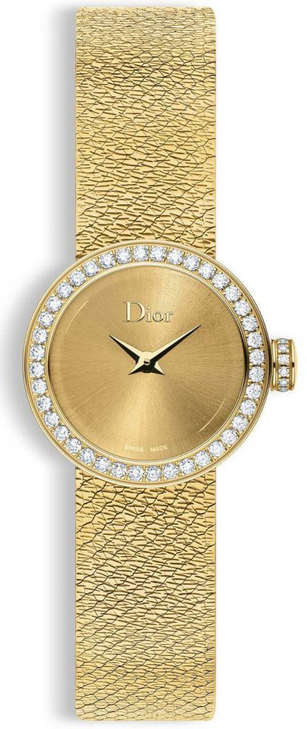 19mm Yellow Gold La Mini D de Dior Satine by Dior