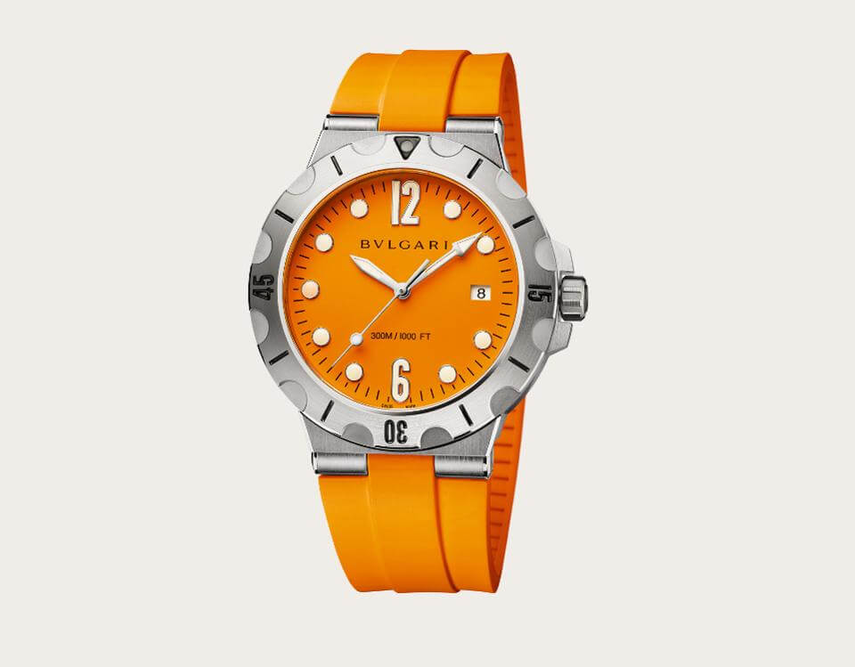 41mm Stainless Steel Diagono Scuba Watch by Bvlgari