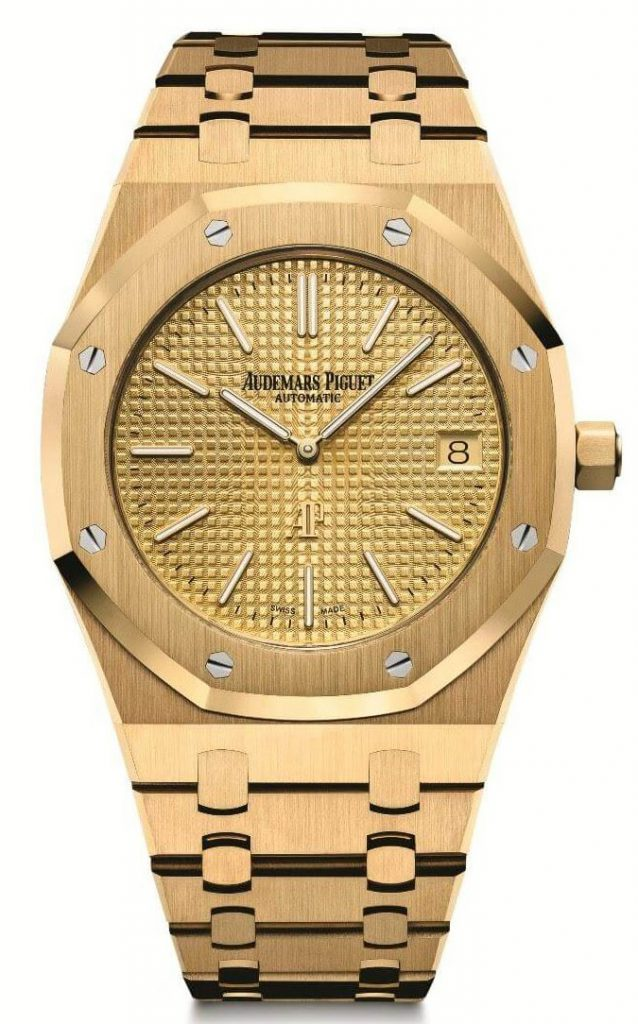 39mm Yellow Gold Royal Oak Extra Thin by Audemars Piguet